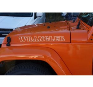 Jeep Wrangler Vintage Style Hood Set of 2 Decal Sticker