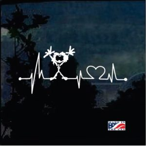 Love Pearl Jam Heartbeat EKG Window Decal Sticker