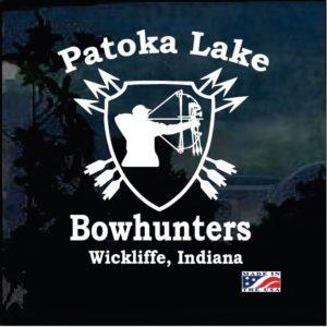 Patoka Lake Bowhunters Decal Sticker