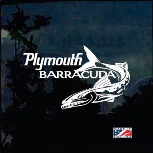 Plymouth Cuda Barracuda Decal Sticker