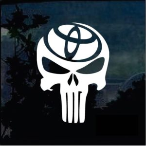 Toyota Punisher Window Decal Sticker a2