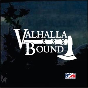 Valhalla Bound Decal Sticker