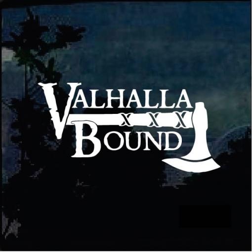 Valhalla Bound Decal Sticker