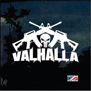 Valhalla Punisher Crossed AR Decal Sticker