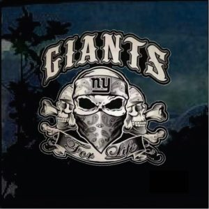 NY Giants For Life Full Color Outdoor Decal Sticker
