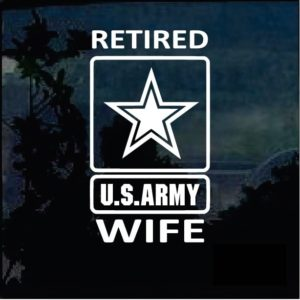 Retired Army Wife Window Decal Sticker
