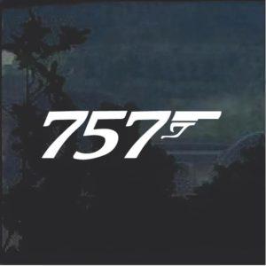757 window decal sticker