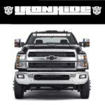 Ironhide Transformer Autobot Chevy 4500 - Windshield Banner Decal Sticker