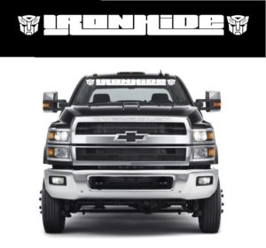 Ironhide Transformer Windshield Banner Decal Sticker Chevrolet