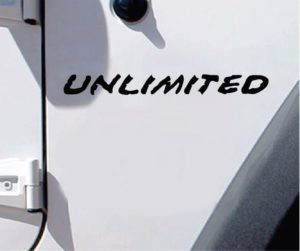 Jeep wrangler unlimited fender decal set of 2 muddy look