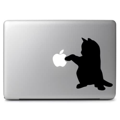 Amazon Com Laptop Sticker Decal Cat And Dog Sitting Silhouette Skins Stickers Kitchen Dining