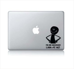 Laptop Stickers - I'm Mr Meeseeks Look at me - Decal