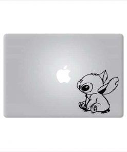 Laptop Stickers - Lilo Stitch Sitting - Decal