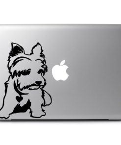 Laptop Stickers - Yorkshire Terrier puppy - Decal