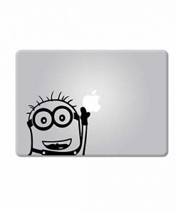 Laptop Stickers-minion-waiving