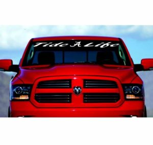 Tide Life Alabama crimson Tide Windshield Banner Decal