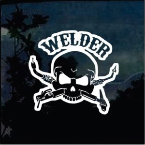 Welder skull Torches window decal sticker a2