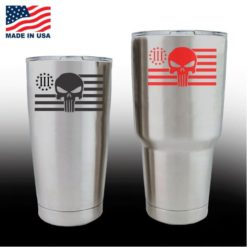 Yeti Decals - Cup Stickers - Punisher Flag