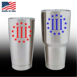 Yeti Decals - Cup Stickers - Three Percenter