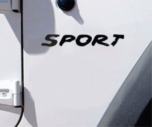 Jeep Decals - Jeep Sport Fender Set Muddy Look Stickers