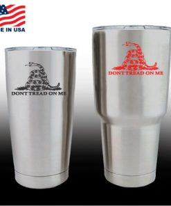 yeti decals - cup stickers - Dont Tread on me Gadsden Flag