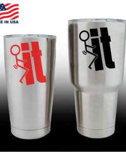 yeti decals - cup stickers - Fuck it Stick Man