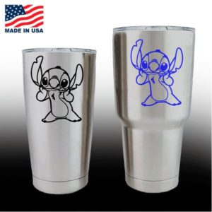 yeti decals - cup stickers - Lilo Stitch