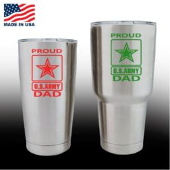 yeti decals - cup stickers - Proud Army Dad