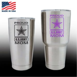yeti decals - cup stickers - Proud Army Mom
