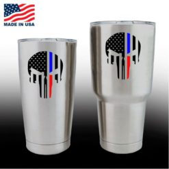 yeti decals - cup stickers - Punsiher Police Fire line