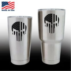 yeti decals - cup stickers - Punsiher Skull Flag