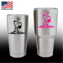 yeti decals - cup stickers - Snoopy