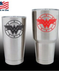 yeti decals - cup stickers - Wonder Woman