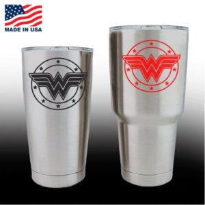 yeti decals - cup stickers - Wonder Woman