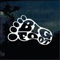 Bigfoot stickers - Bigfoot Print Decal