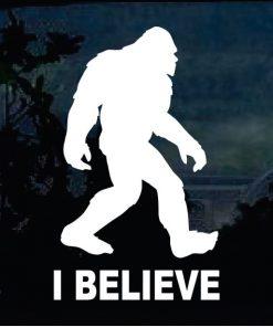 Bigfoot stickers - I Believe Sasquatch decal