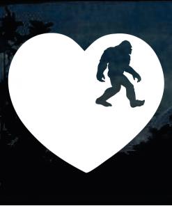 Bigfoot stickers - Love Bigfoot Heart Decal