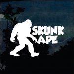 Skunk Ape Decal - Bigfoot stickers