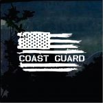 Coast Guard Weathered Flag Decal - Cool Stickers