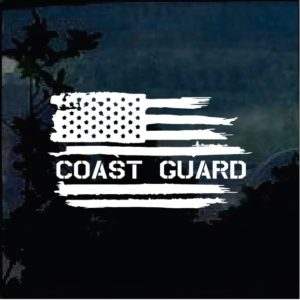 Cool Stickers - Coast Guard Weathered Flag Decal