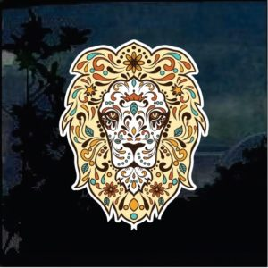 Cool Stickers - Day of the Dead Lion