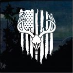 Deer Skull Hunting Flag Decal - Cool Stickers