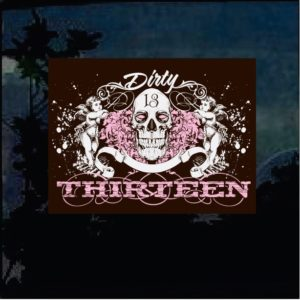 Cool Stickers - Dirty thirteen skull decal