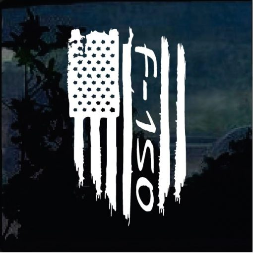 Cool Stickers - Ford F-150 Weathered Flag Decal