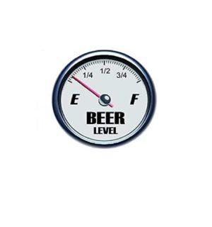 Hard hat stickers - Beer level empty