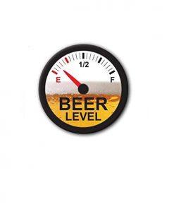Hard hat stickers - Beer level empty II