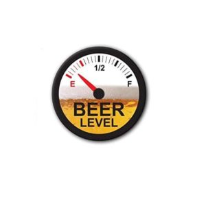 Hard hat stickers - Beer level empty II