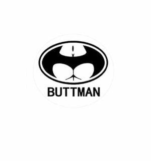 Hard hat stickers - Buttman