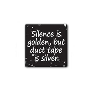Hard hat stickers - Duct Tape is Silver