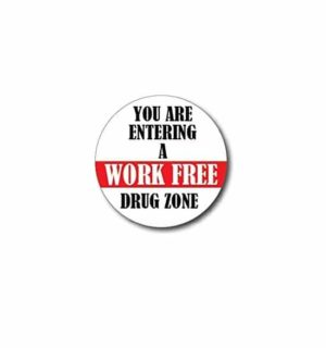 Hard hat stickers - Entering Work Free Zone